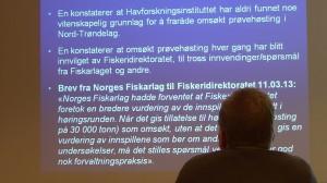 Letter from Fiskarlag to the fiskeriedirektoratet.